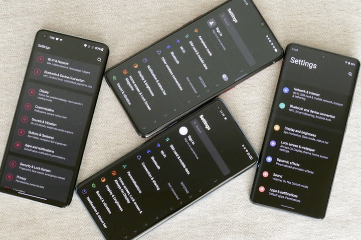 The settings screen on Realme, Oppo, Vivo, and OnePlus phones.