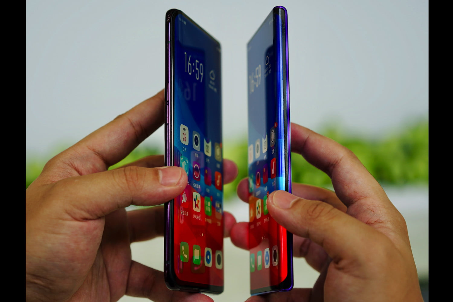 oppo waterfall screen news with find x