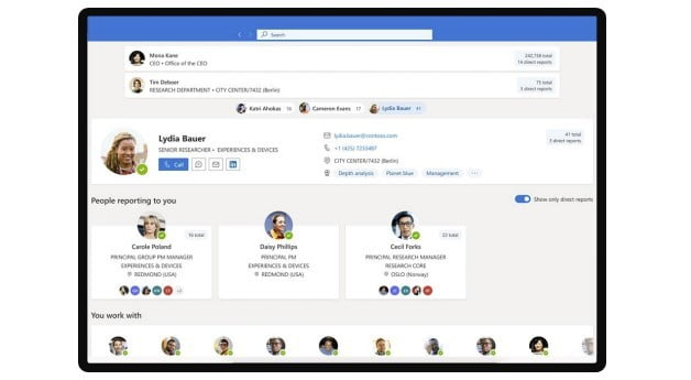 everything new in outlook build 2021 organization explorer
