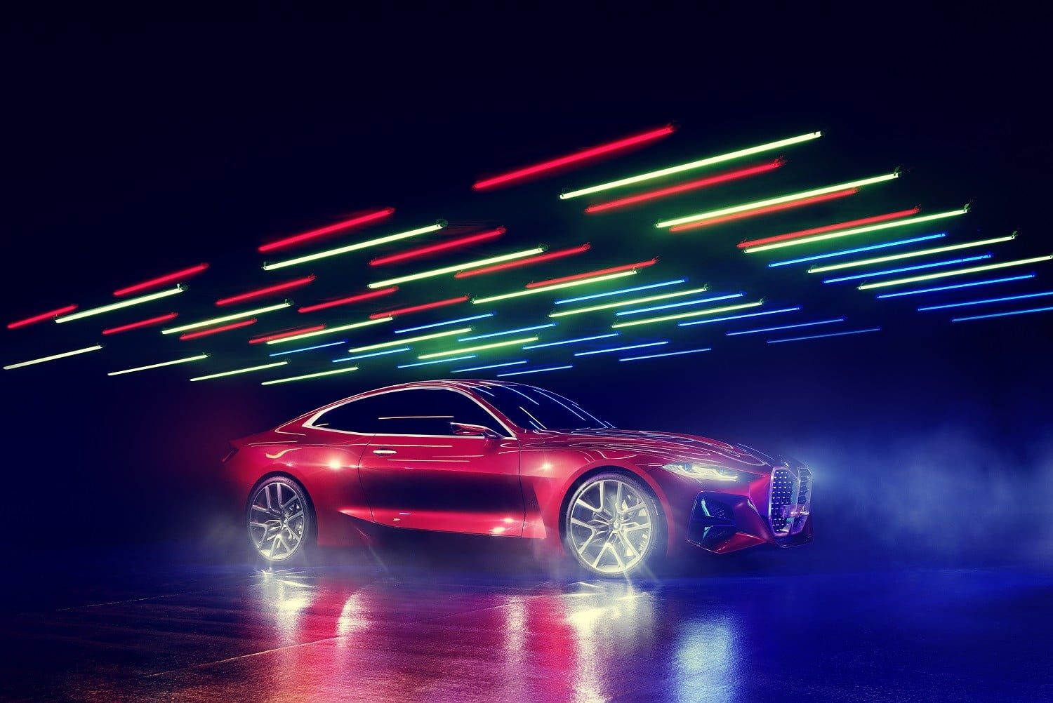 bmw concept 4 previews the 2021 series coupe at 2019 frankfurt auto show p90364618 highres