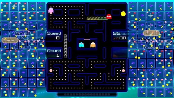 Board littered with pellets in Pac-Man 99.