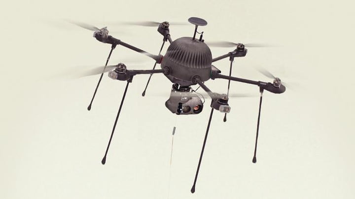Parc Drone - CyPhy Works tethered perpetual flight drone