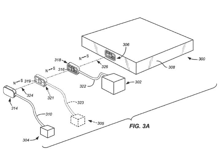 apple stackable magnetic connector patent