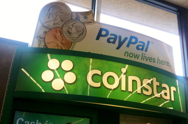PayPal on Coinstar machines