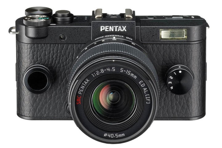 pentax q s1 incredibly small like pocket cam yet swaps lenses dslr qs1 front