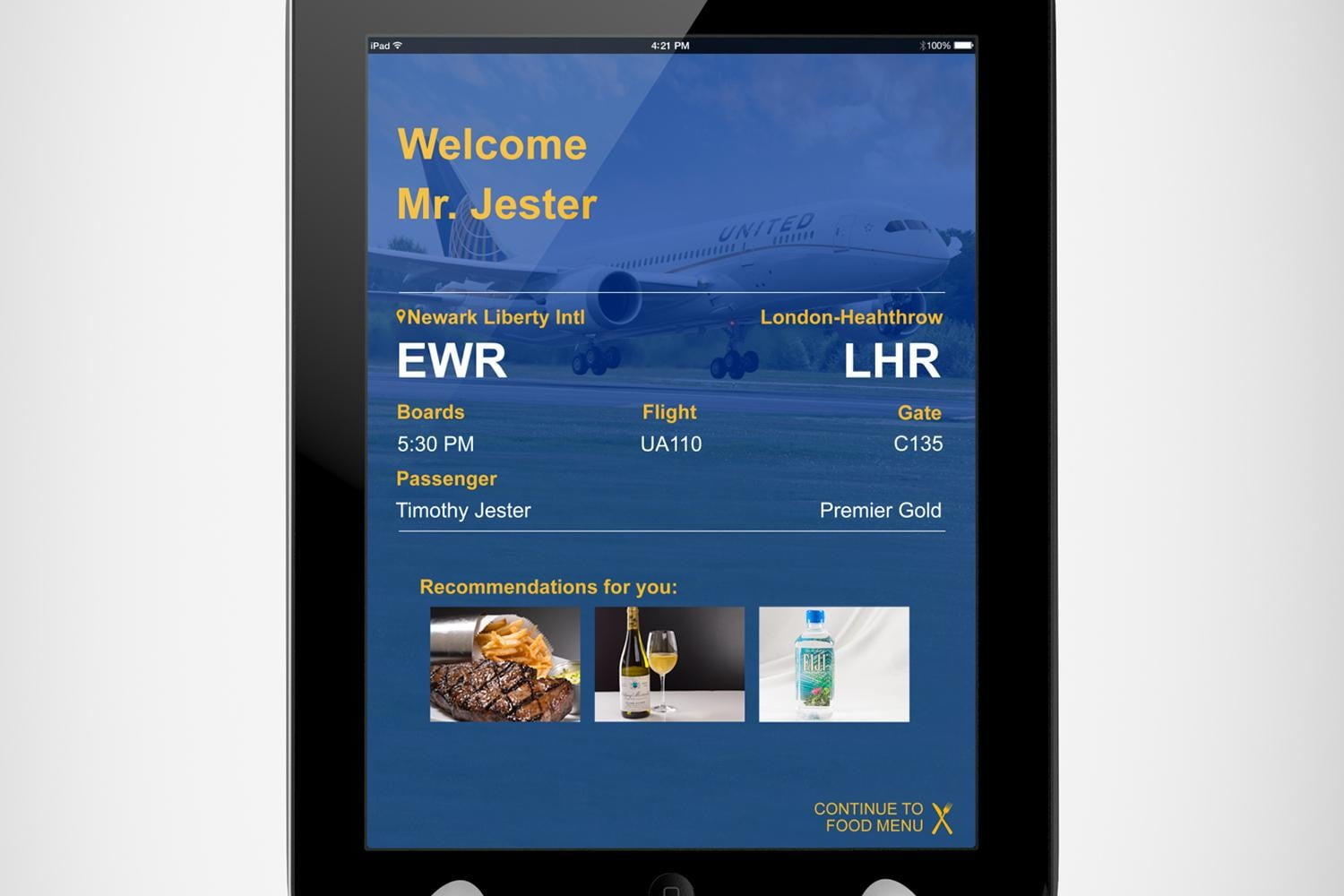 ipads are replacing waiters in airport restaurants personalized welcome screen