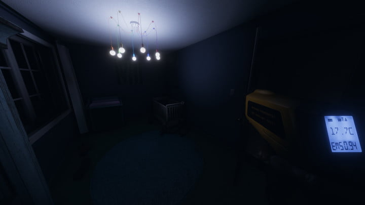 Scanning a dark room with a ghost tool.