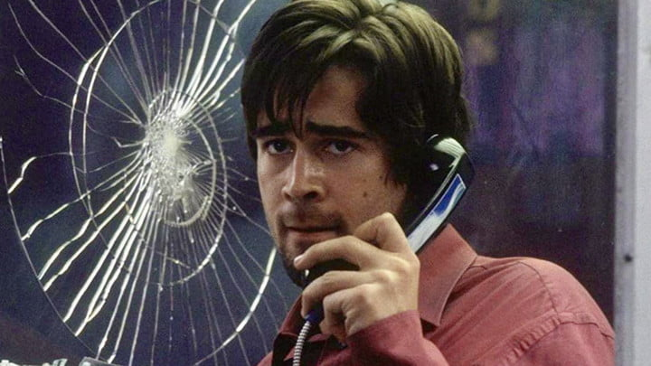 Colin Farrell on the phone in Phone Booth.