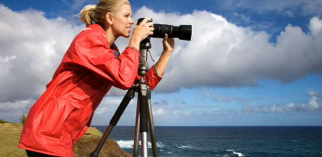 Photographer with tripod