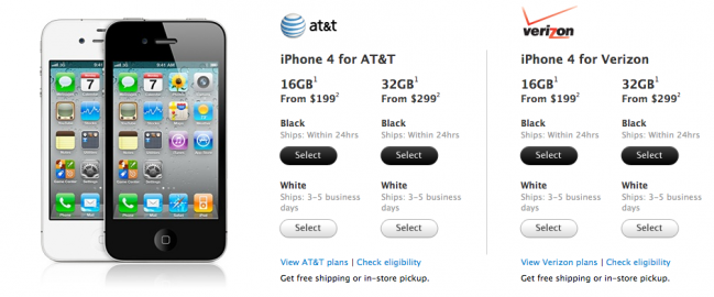 White iPhone 4 for sale