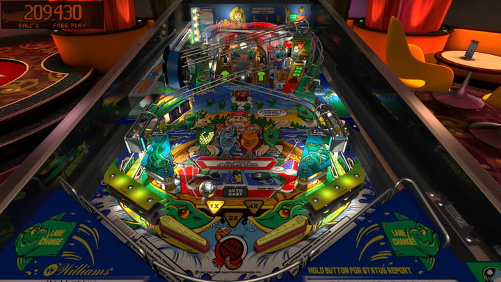 Top-down view of a pinball machine in Pinball FX3.