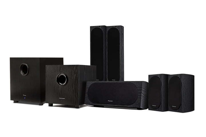 Pioneer SW-10 with speaker family