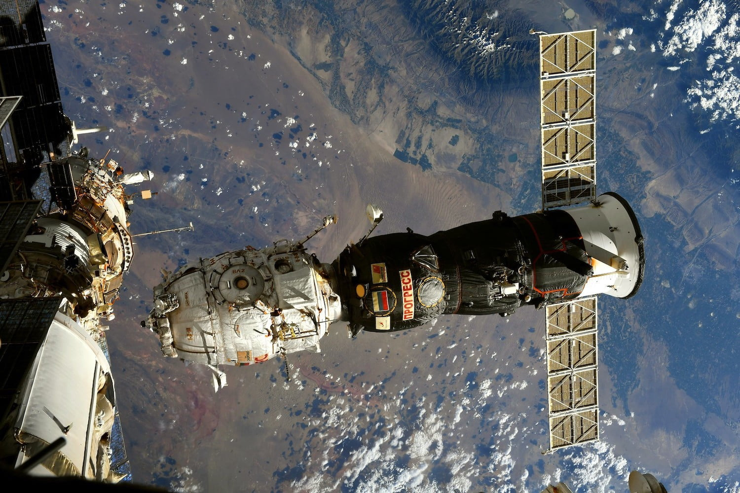 Russia's Pirs module departing the International Space Station after 20 years.