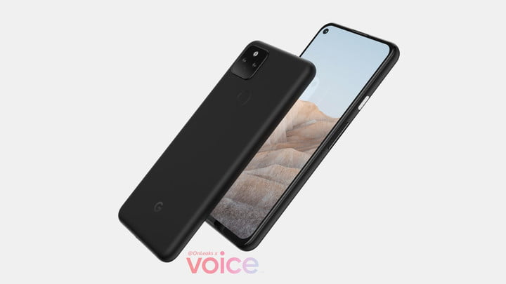 A leaked render of the Google Pixel 5a 5G