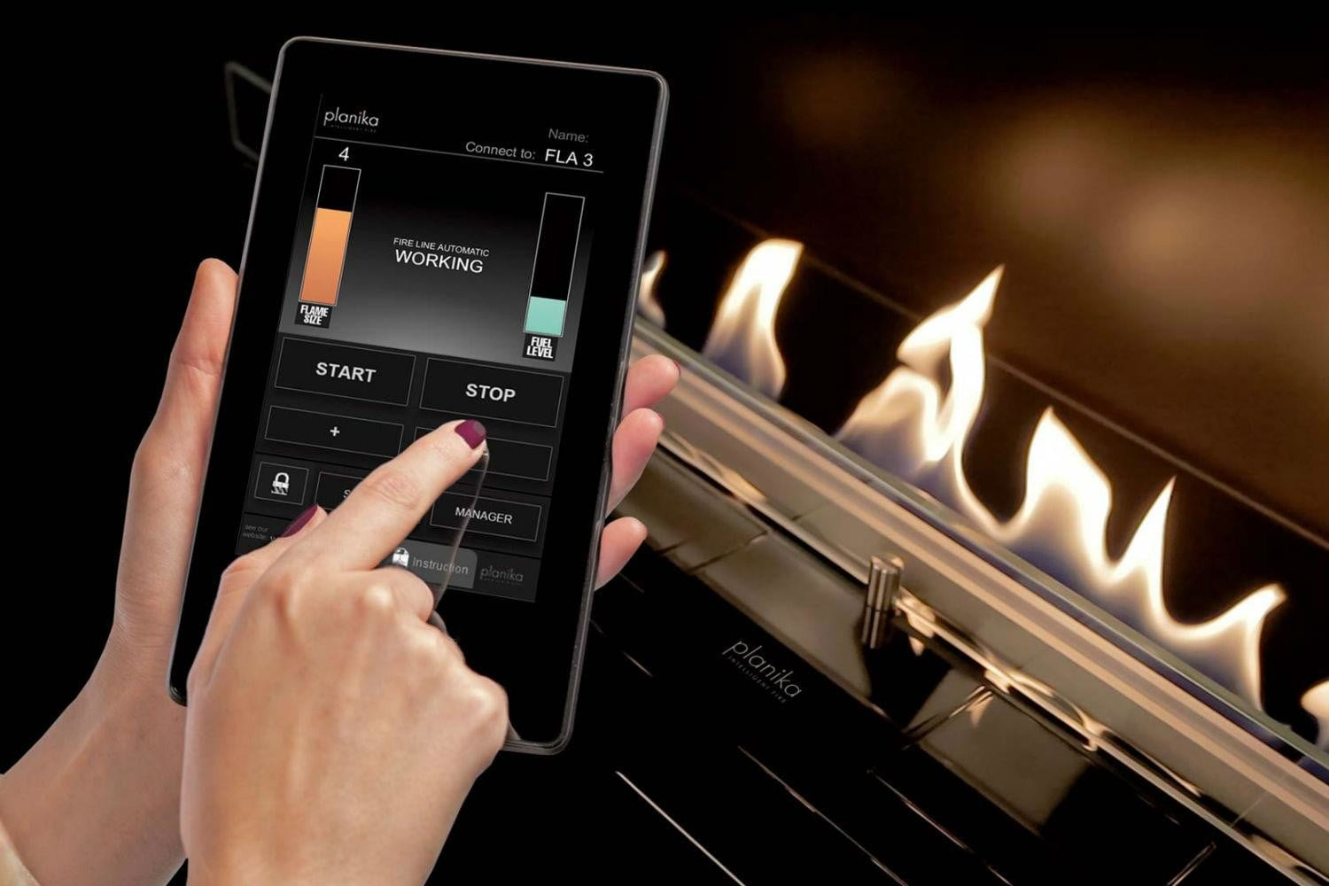 planikas new fireplace is smart and chimney less planika app