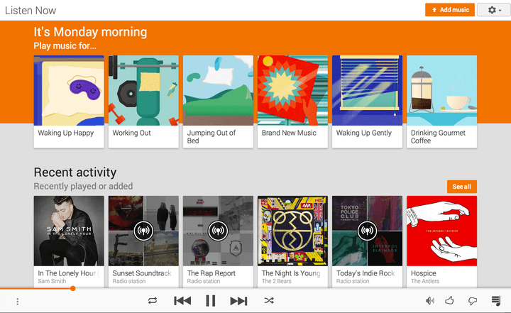 google play music integrates songza  new recommendations web