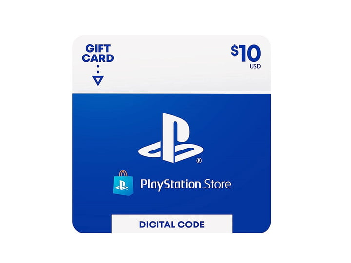 A PlayStation Store gift card for .