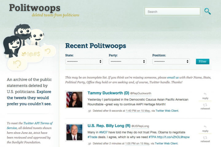 politicians beware politwoops is returning to twitter
