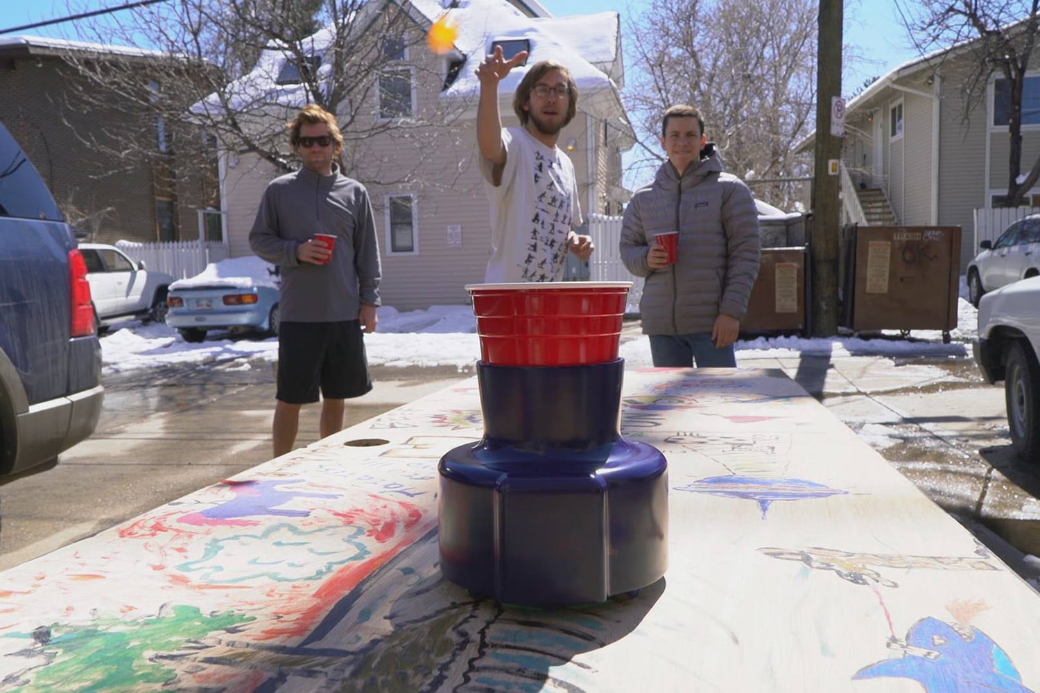 awesome tech you cant buy yet terra cinch pongbot  randomized beer pong robot