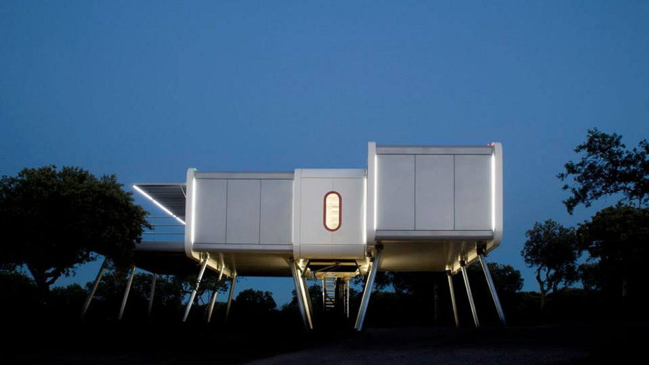 the prefab spaceship house looks like it came from space ufo