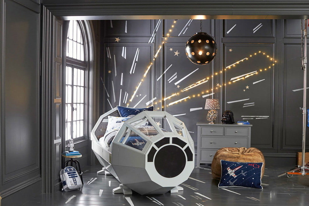 pottery barn has a 4000 star wars bed for sale the millennium falcon  kids