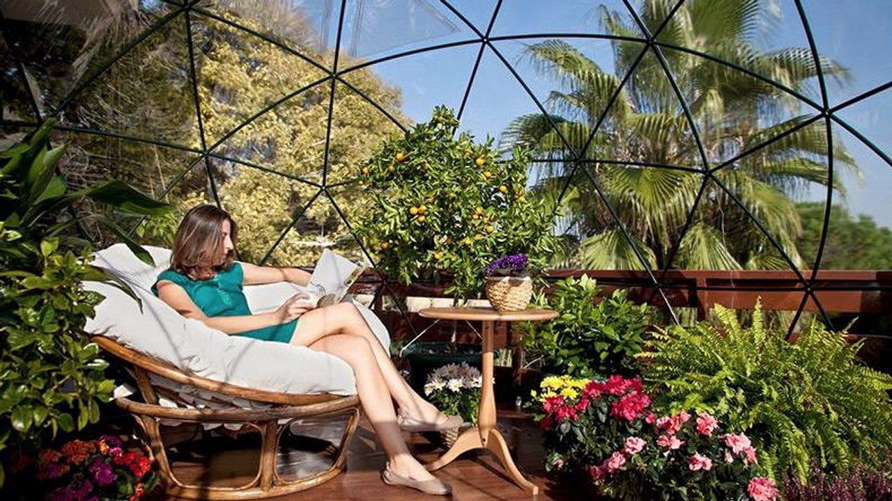 the garden igloo is a geodesic dome for your lawn