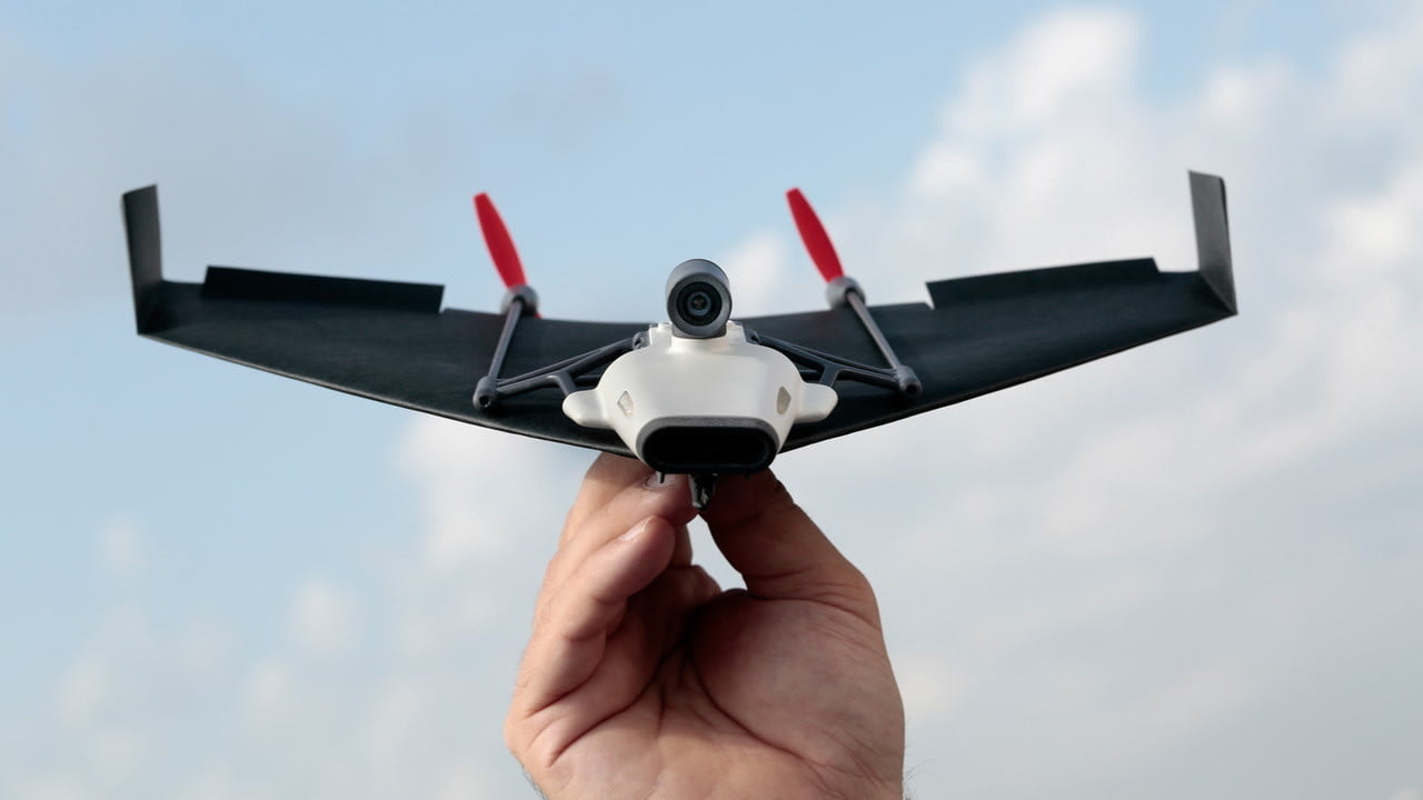 paper airplane drone kickstarter powerup fpv offers livestreaming on a
