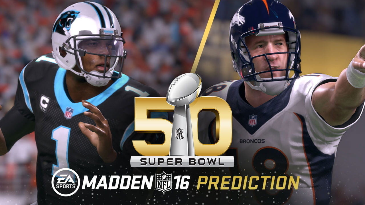 madden super bowl 50 predicts panthers will win