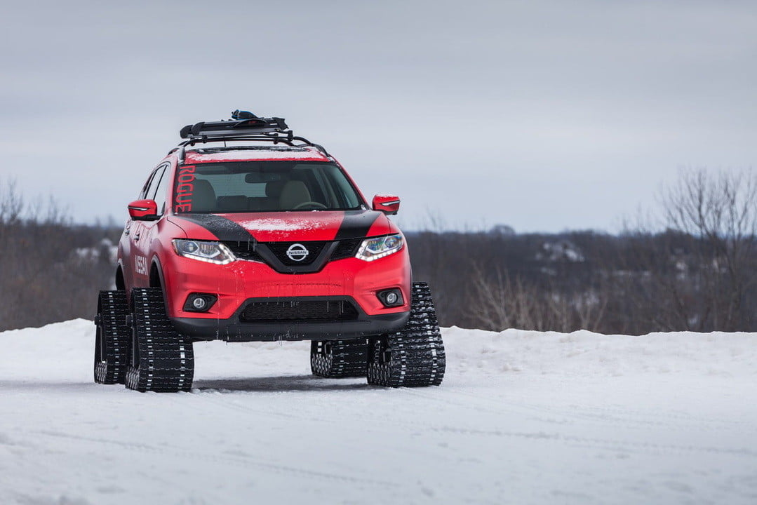 nissan tracked winter warriors warrior concepts  photos specs video