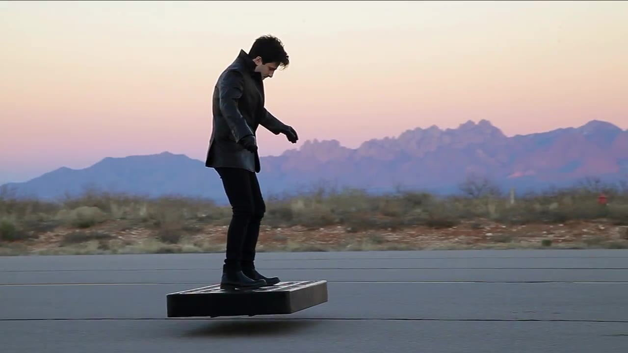 arcaboard hoverboard video updates show in action new