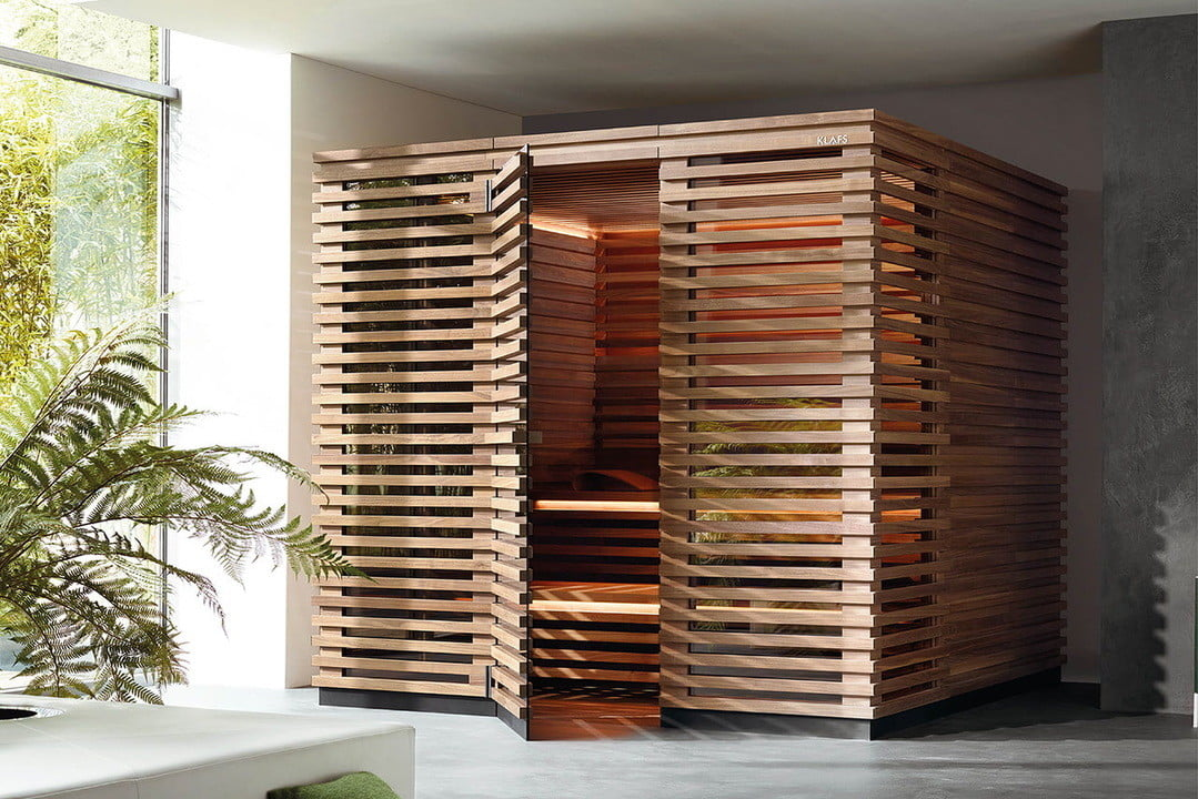 klafs s1 sauna extendable retractable  is meant to fit in apartments