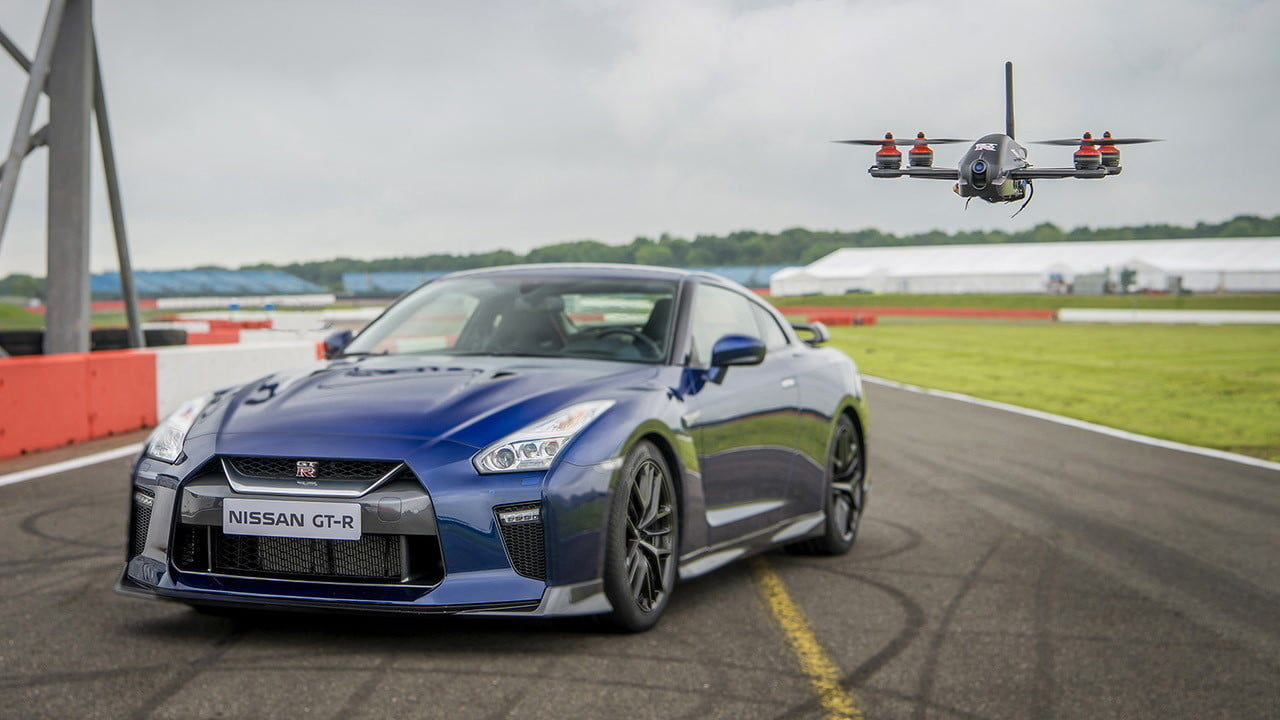 nissan gt r track drone  pictures video specs