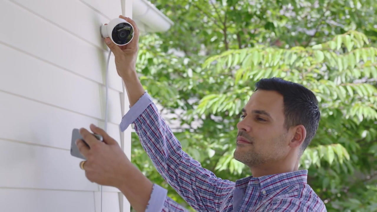 nest outdoor camera the cam has two way audio