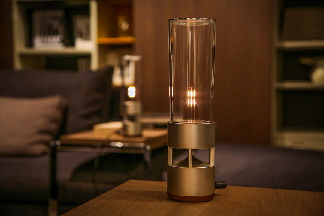 sony glass sound speaker lspx s1 hands on s will keep guests guessing