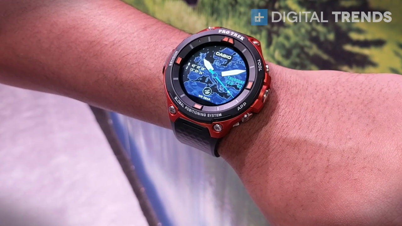 casio wsd f20 smartwatch ces 2017 s runs android wear 2 0  adds gps