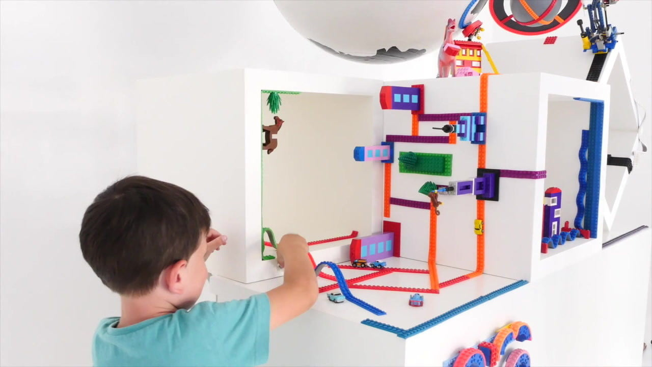 nimuno loops lego adhesive tape compatible lets you stick your bricks anywhere want