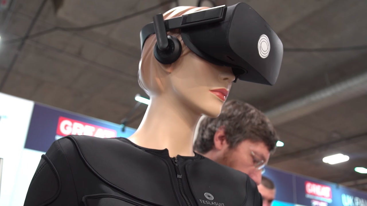 teslasuit full body haptic feedback offers for virtual reality