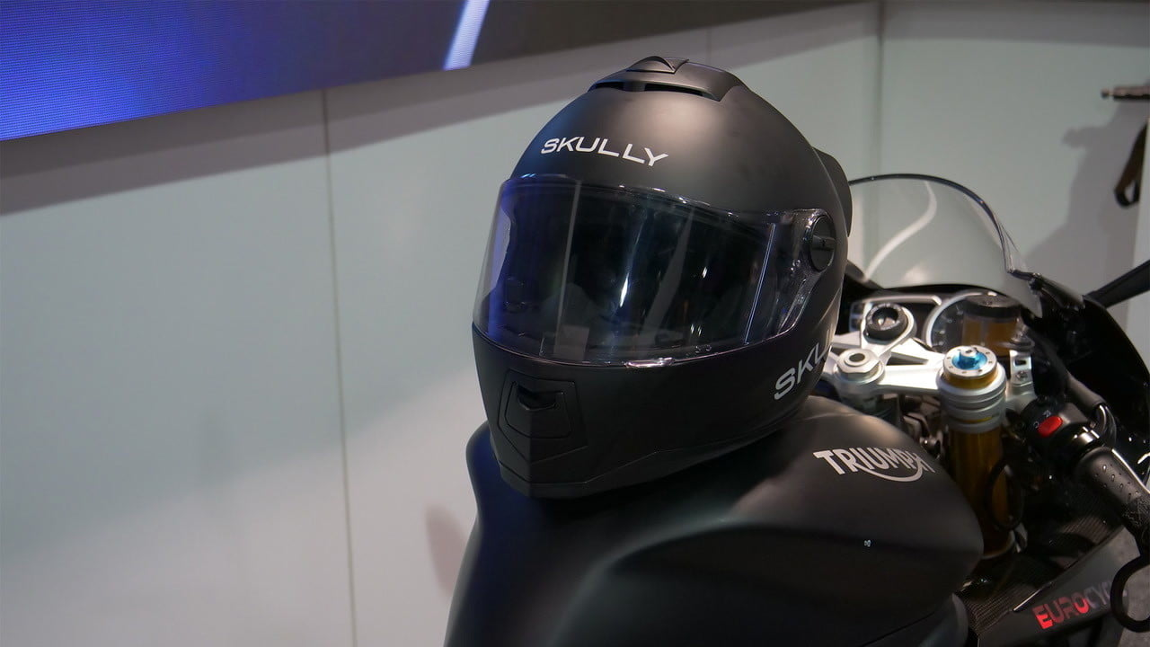 skully smart motorcycle helmet ces 2018 it s back  shows up at as gasgas ceo takes control