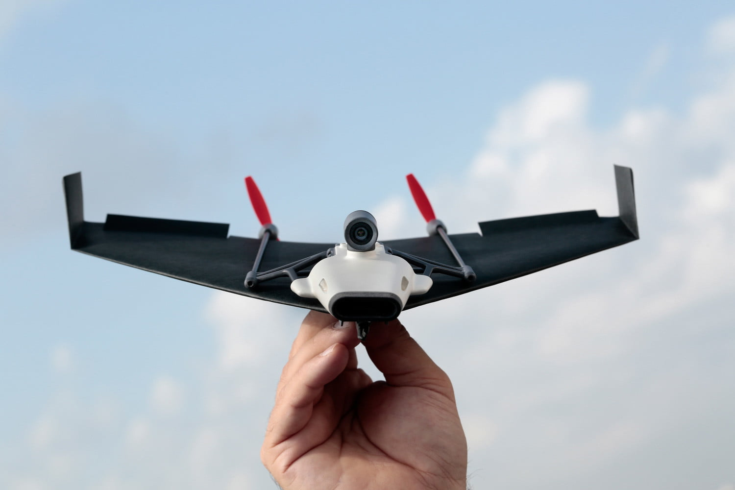 paper airplane drone kickstarter powerup front pic