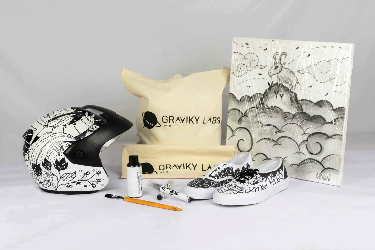 kickstarter ink air pollution products decorated with