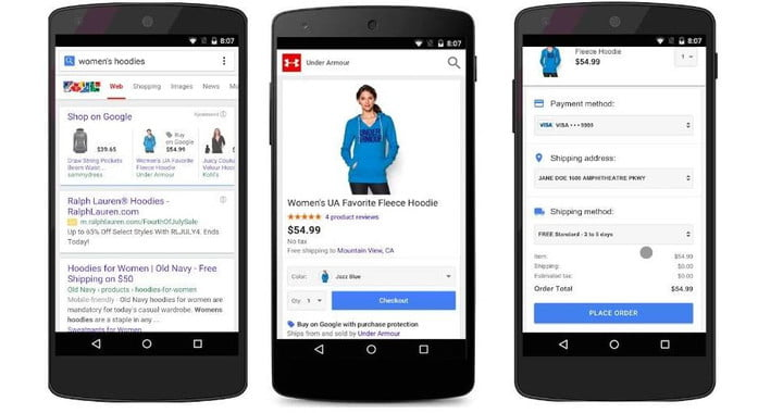 google buy button real purchase on