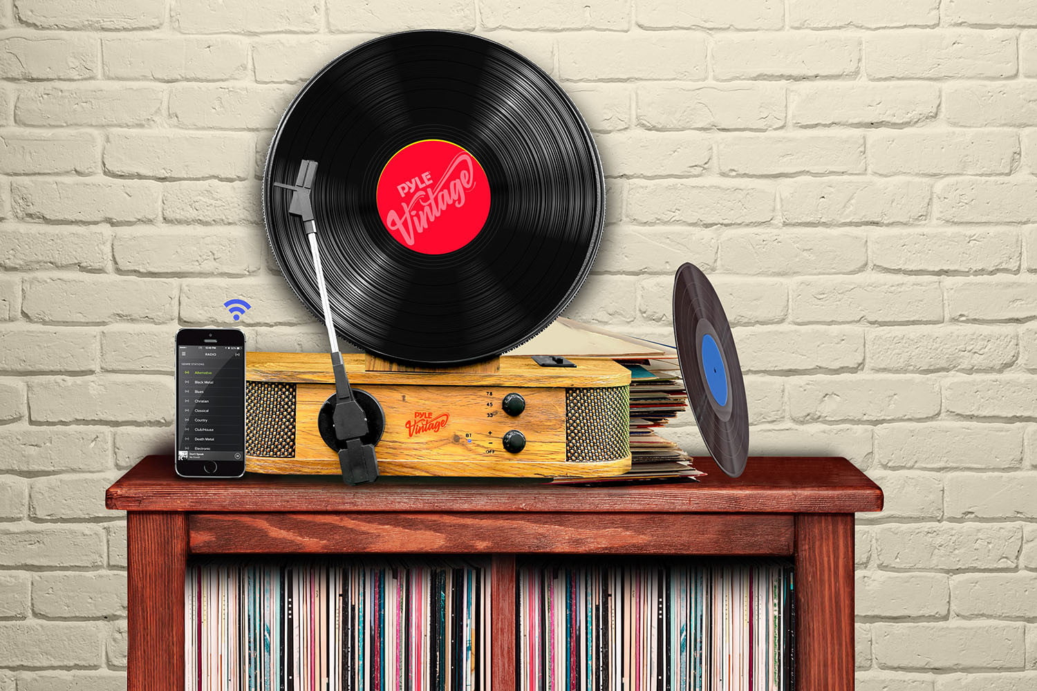 pyle usa bluetooth vertical turntable 1