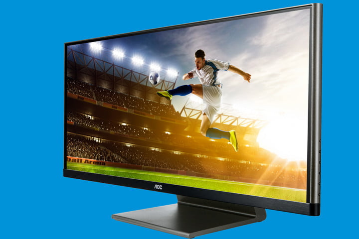 aocs latest monitor is 29 inches of ultra affordable ultrawide q2963pq front angle left