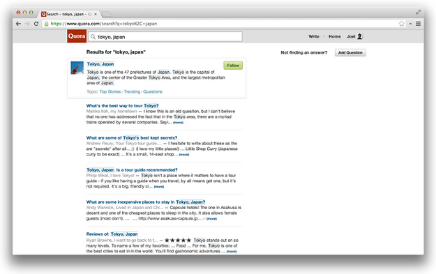 quora search results