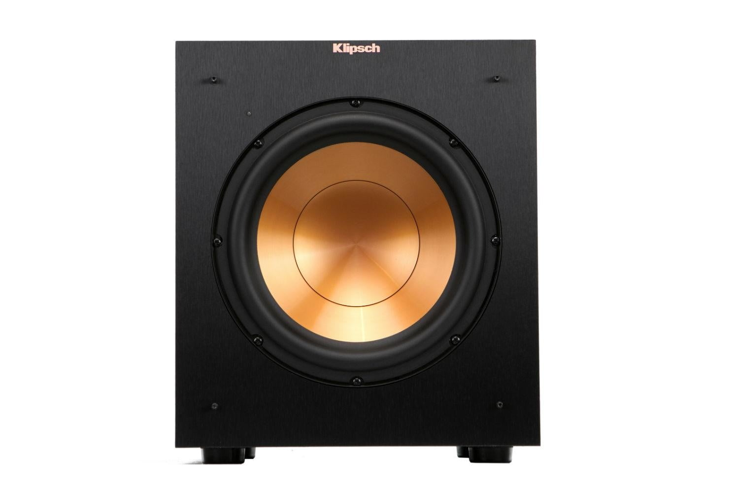 klipsch unveils stockpile new speakers reference home theater line r 10sw front
