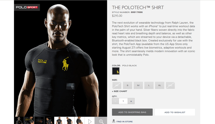 Ralph Lauren's new PoloTech shirt