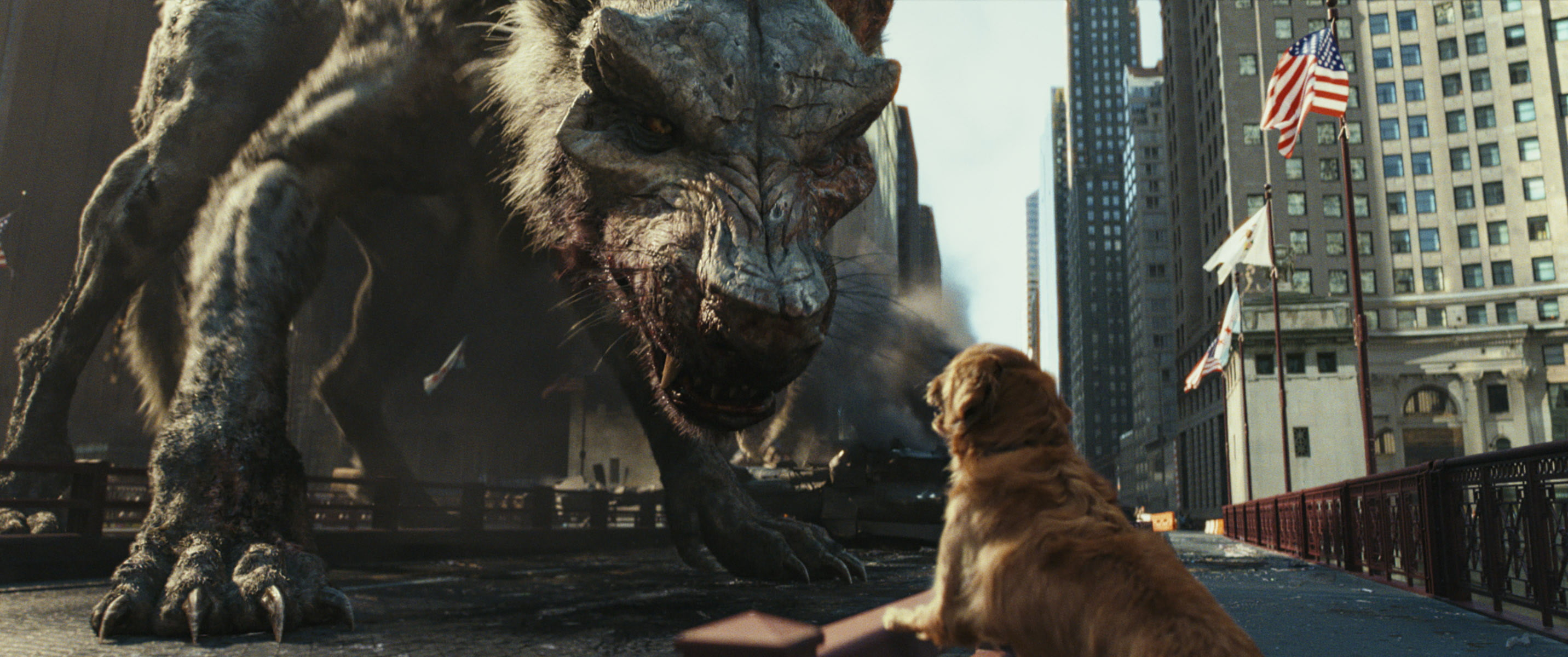 rampage review movie dog