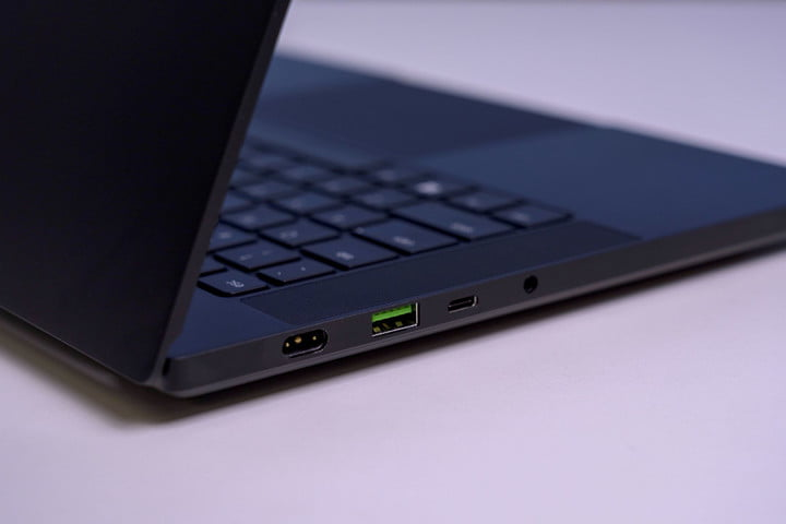 The keyboard and touchpad on the Razer Blade 14.