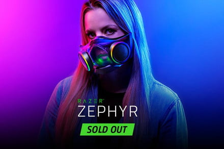 Razer says it sold out of its Zephyr N95 face mask 'within minutes'