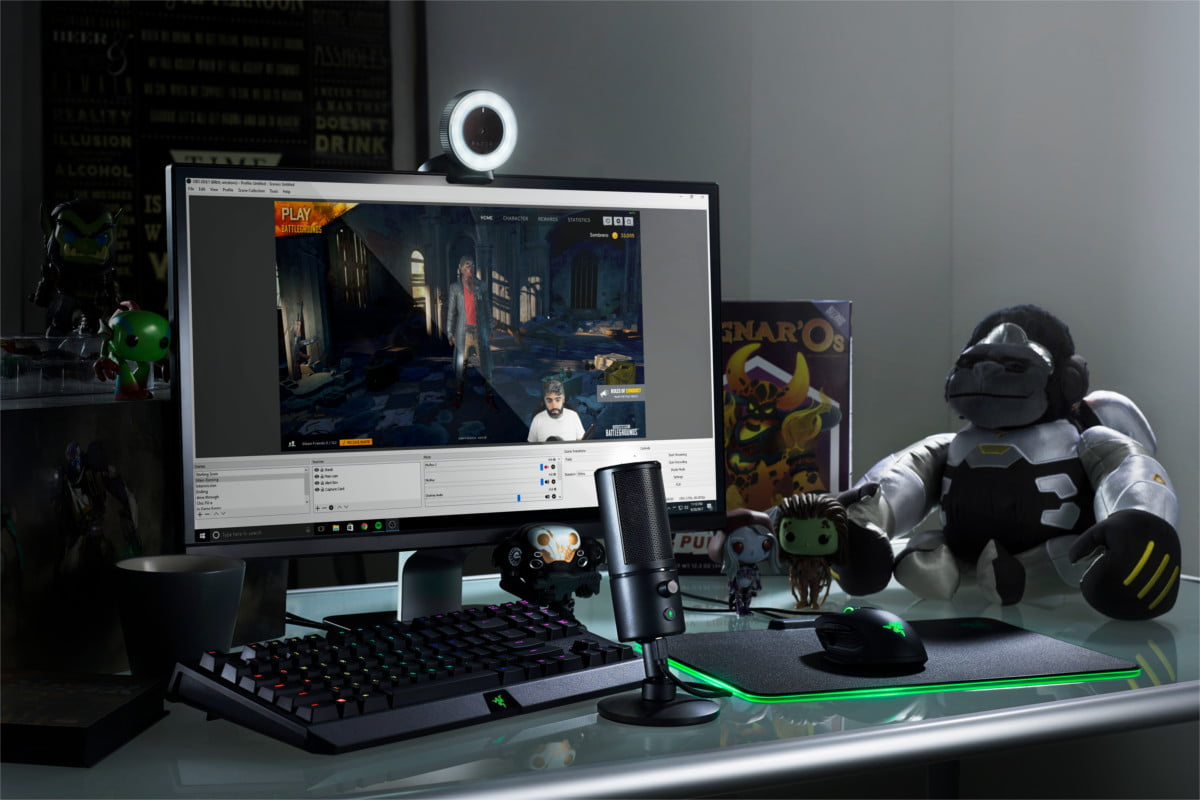 razer siren x mic kiyo webcam and 1